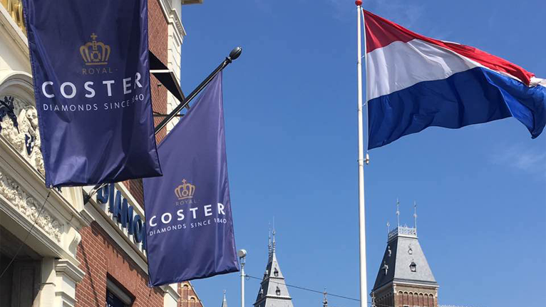 Now, Chinese tourists can enjoy the tax refund in Netherland Royal Coster Diamonds