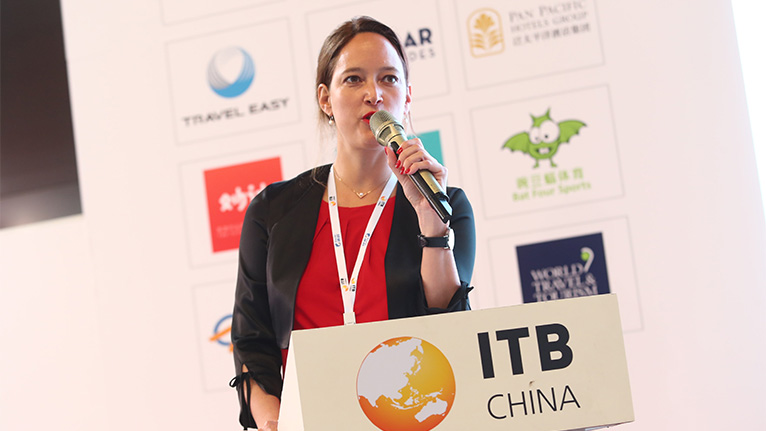 "Operating Director Mrs. Sandra Servos gave a Keynote Speech at ITB China: ""The new ecosystem for the travel-retail industry""."